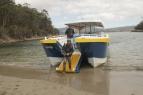 Disembarking at Denman's Cove